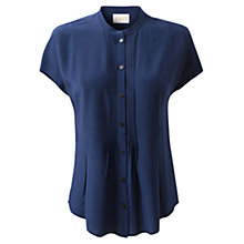 Buy East Pintuck Silk Blouse, Royal Blue Online at johnlewis.com