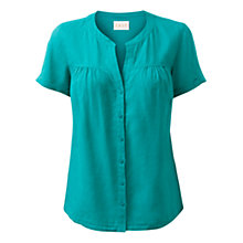 Buy East Linen Yoke Blouse, Sardinia Online at johnlewis.com