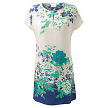 Buy East Michiko Print Tunic Dress, White Online at johnlewis.com