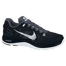 Buy Nike Men's LunarGlide+ 5 Running Shoes, Black/Grey Online at johnlewis.com