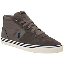 Buy Polo Ralph Lauren Mid Suede Mesh Trainers, Grey Online at johnlewis.com