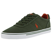 Buy Polo Ralph Lauren Hanford-Ne Canvas Trainers, Olive Online at johnlewis.com