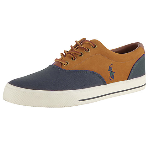 Buy Polo Ralph Lauren Vaughn Canvas and Leather Trainers Online at johnlewis.com