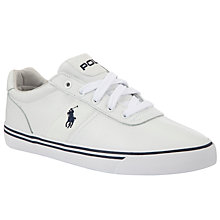 Buy Polo Ralph Lauren Hanford Leather Trainers, White Online at johnlewis.com