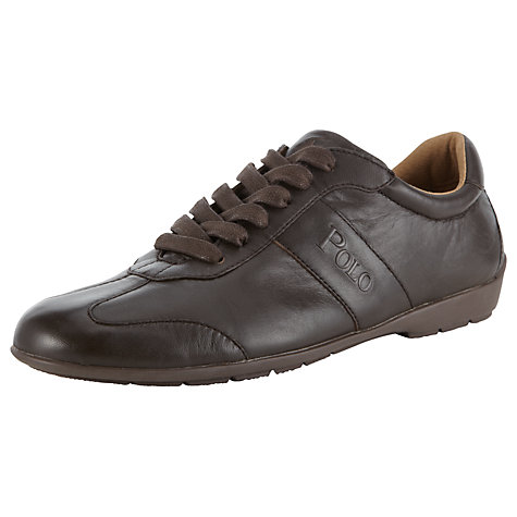 Buy Polo Ralph Lauren Lansil Leather Trainers Online at johnlewis.com