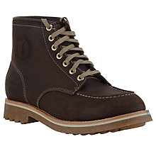 Buy Polo Ralph Lauren Marvin Leather Walking Boots, Dark Brown Online at johnlewis.com