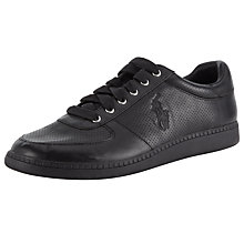 Buy Polo Ralph Lauren Hernando Leather Trainers Online at johnlewis.com