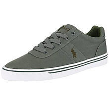 Buy Polo Ralph Lauren Hanford-Ne Canvas Trainers, Grey Online at johnlewis.com