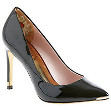 Buy Ted Baker Neevo Pointed Court Shoes, Patent Black Online at johnlewis.com