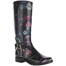 Buy Ted Baker Petal Wellington Boots, Black/Floral Online at johnlewis.com