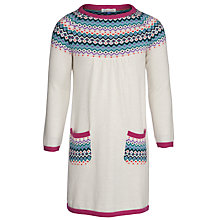 Buy John Lewis Girl Fair Isle Knitted Dress, Cream/Multi Online at johnlewis.com