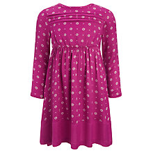 Buy John Lewis Girl Ditsy Floral Pintuck Dress, Fuchsia Online at johnlewis.com