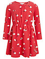 John Lewis Girl Floral Long Sleeve Dress, Red