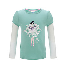 Buy John Lewis Girl Long Sleeve Snowflake Dancer Top, Aqua Blue Online at johnlewis.com