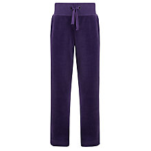 Buy John Lewis Girl Velour Jogger Trousers, Purple Online at johnlewis.com