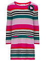 John Lewis Girl Striped Knitted Dress, Pink/Multi