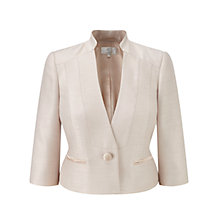 Buy CC Petite Satin Trim Jacket, Gold Online at johnlewis.com