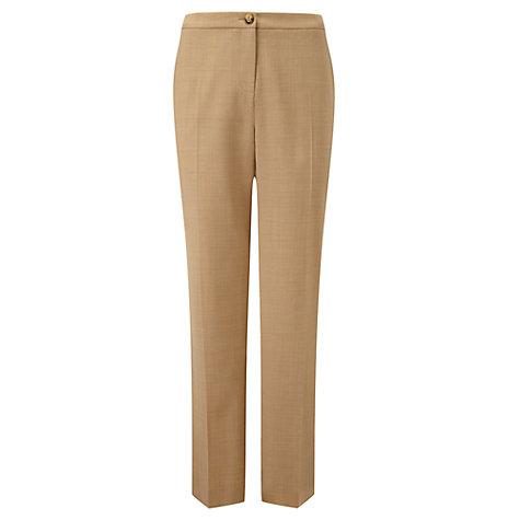 Buy Viyella Straight Leg Regular Trousers, Camel Online at johnlewis.com