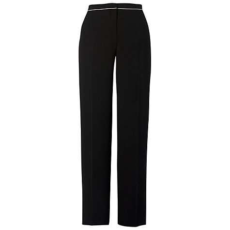 Buy Chesca Contrast Piping Trousers, Black Online at johnlewis.com