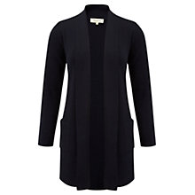 Buy Viyella Longline Merino Cardigan, Navy Online at johnlewis.com