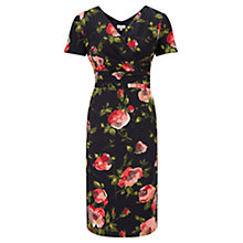 Buy CC Petite Rose Print Dress, Navy Online at johnlewis.com