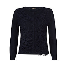 Buy Jigsaw Linen Mix Lace Front Cardigan Online at johnlewis.com