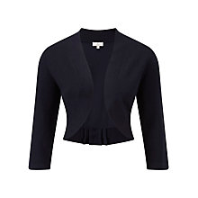 Buy CC Petite Bow Back Shrug, Navy Online at johnlewis.com