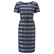 Buy CC Petite Lace Layered Dress, Navy Online at johnlewis.com