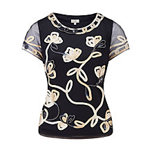 Buy CC Petite Cornelli Floral Blouse, Navy Online at johnlewis.com