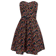 Buy Oasis Ditsy Print Bandeau Dress, Multi Online at johnlewis.com