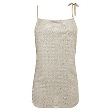 Buy Coast Sienna Sequin Halterneck Top, Neutral Online at johnlewis.com