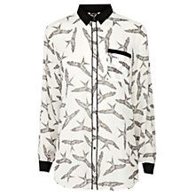 Buy Warehouse Oversized Bird Print Shirt, Multi Online at johnlewis.com
