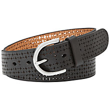 Buy Fossil Laser Perforated Belt Online at johnlewis.com