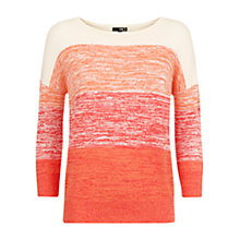 Buy NW3 by Hobbs Gradient Stripe Jumper, Tea Rose Online at johnlewis.com