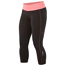 Buy Saucony Scoot Capri Tights, Black/Pink Online at johnlewis.com