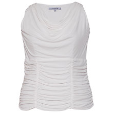 Buy Chesca Ruched Trim Jersey Top, Ivory Online at johnlewis.com