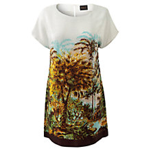 Buy East Bali Print Silk Tunic Dress, Ivory Online at johnlewis.com