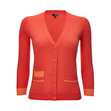 Buy NW3 by Hobbs Constable Cardigan, Grapefruit Online at johnlewis.com