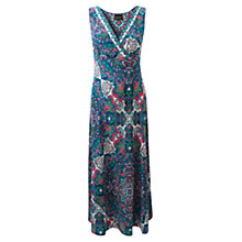 Buy East Samovar Silk Dress, Violet Online at johnlewis.com