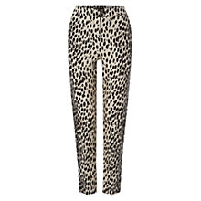 Buy Hobbs Savannah Trousers, Black/Natural Online at johnlewis.com