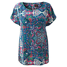 Buy East Samovar Silk Blouse, Violet Online at johnlewis.com