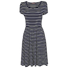 Buy Phase Eight Stripe Flared Dress, Navy/Ivory Online at johnlewis.com
