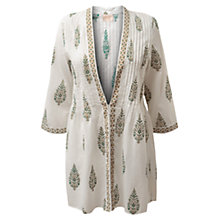 Buy East Anokhi Overpiece Cardigan, White Online at johnlewis.com