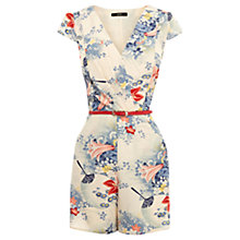 Buy Oasis Floral Print Playsuit, Multi Online at johnlewis.com