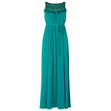 Buy Phase Eight Embellished Maxi Dress, Lagoon Online at johnlewis.com