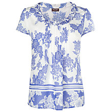 Buy Phase Eight Neve Blouse, Marina/White Online at johnlewis.com