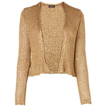 Buy Phase Eight Sally Sequin Shrug, Gold Online at johnlewis.com