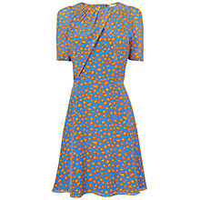 Buy Boutique by Jaeger Leopard Fold Dress, Light Blue Online at johnlewis.com