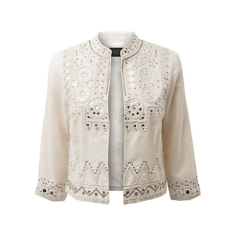 Buy East Mirror Embroidered Jacket, White Online at johnlewis.com