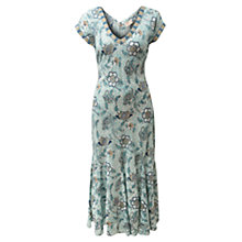 Buy East Manchu V-Neck Dress, White Online at johnlewis.com